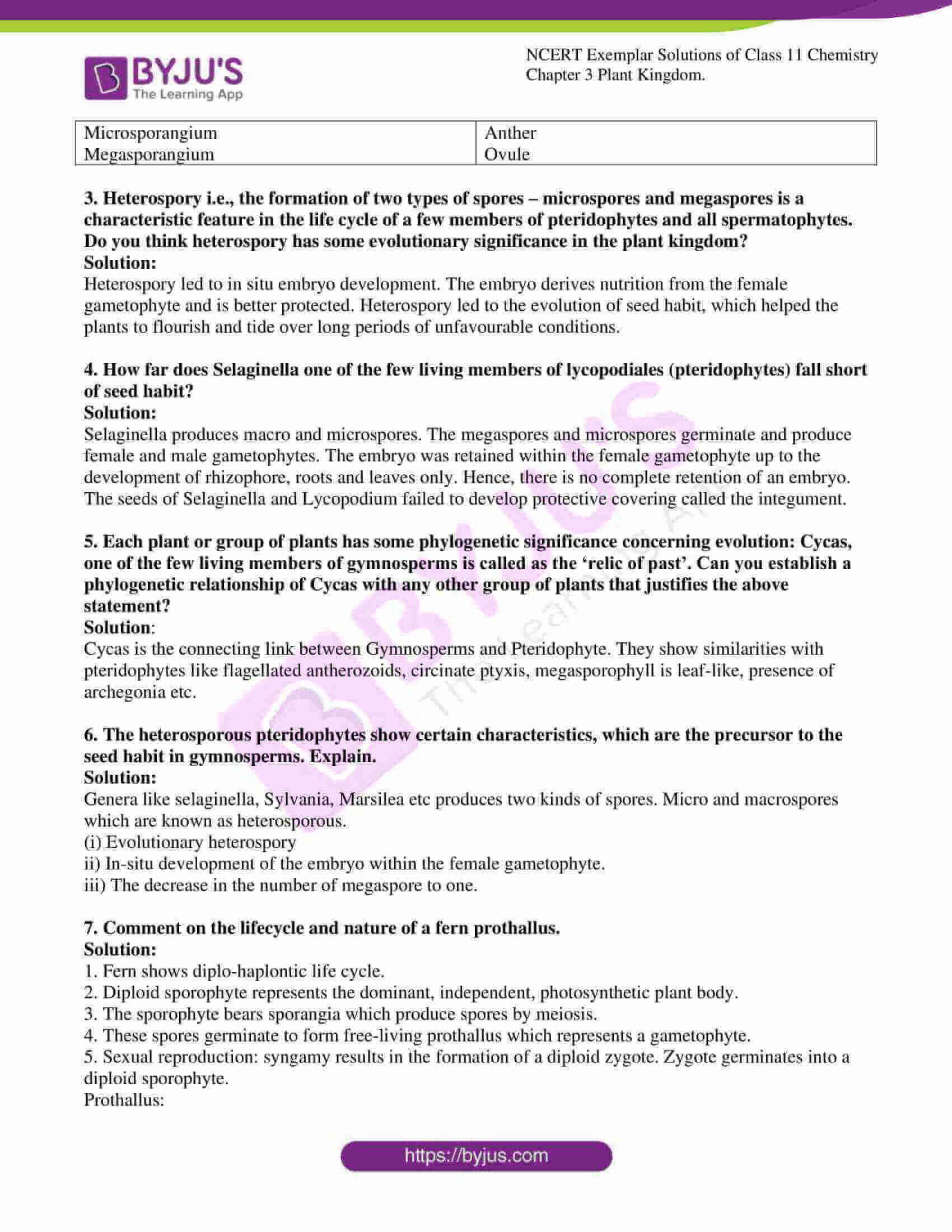 ncert exemplar solutions for class 11 bio chapter 3 4