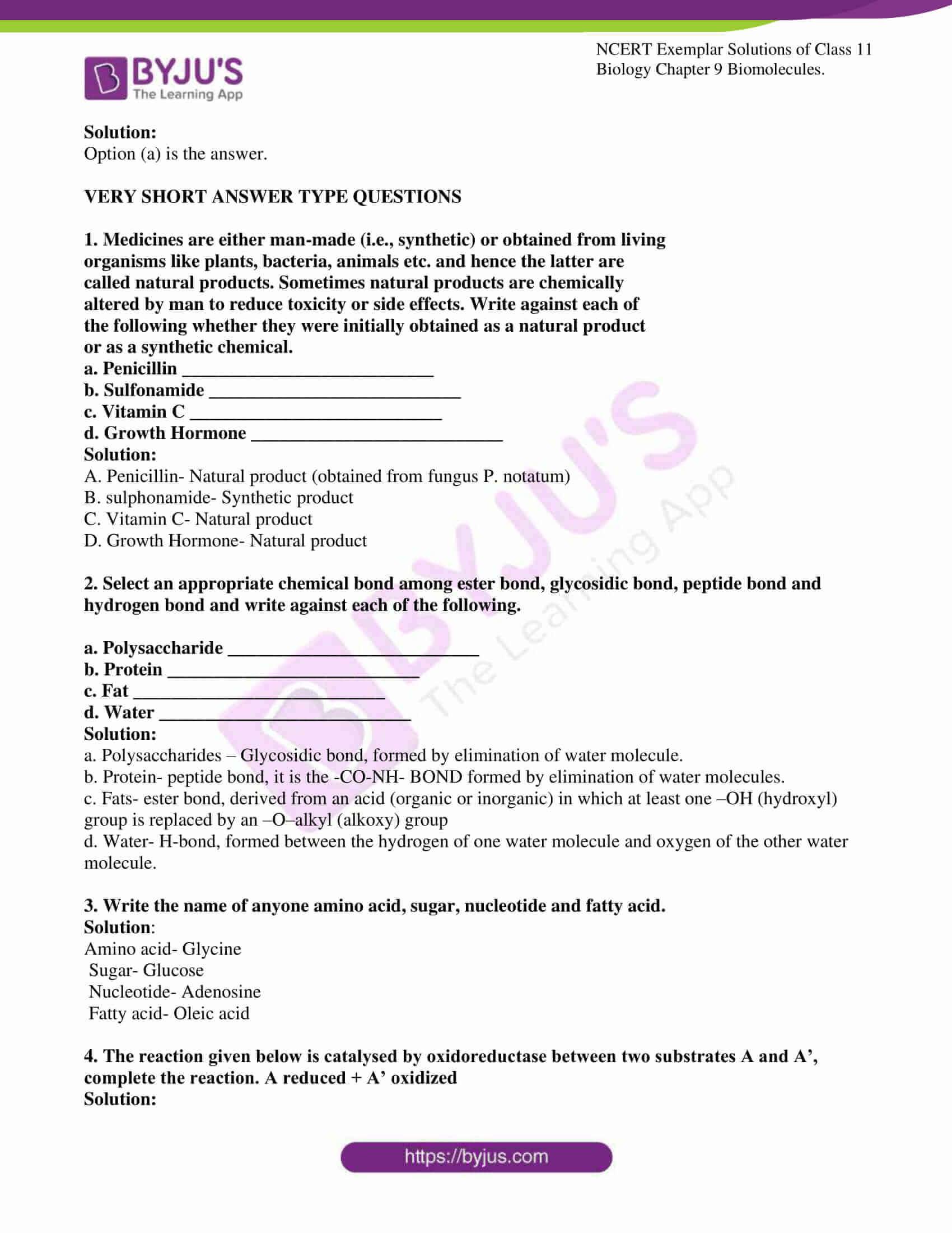 ncert exemplar solutions for class 11 bio chapter 9 4