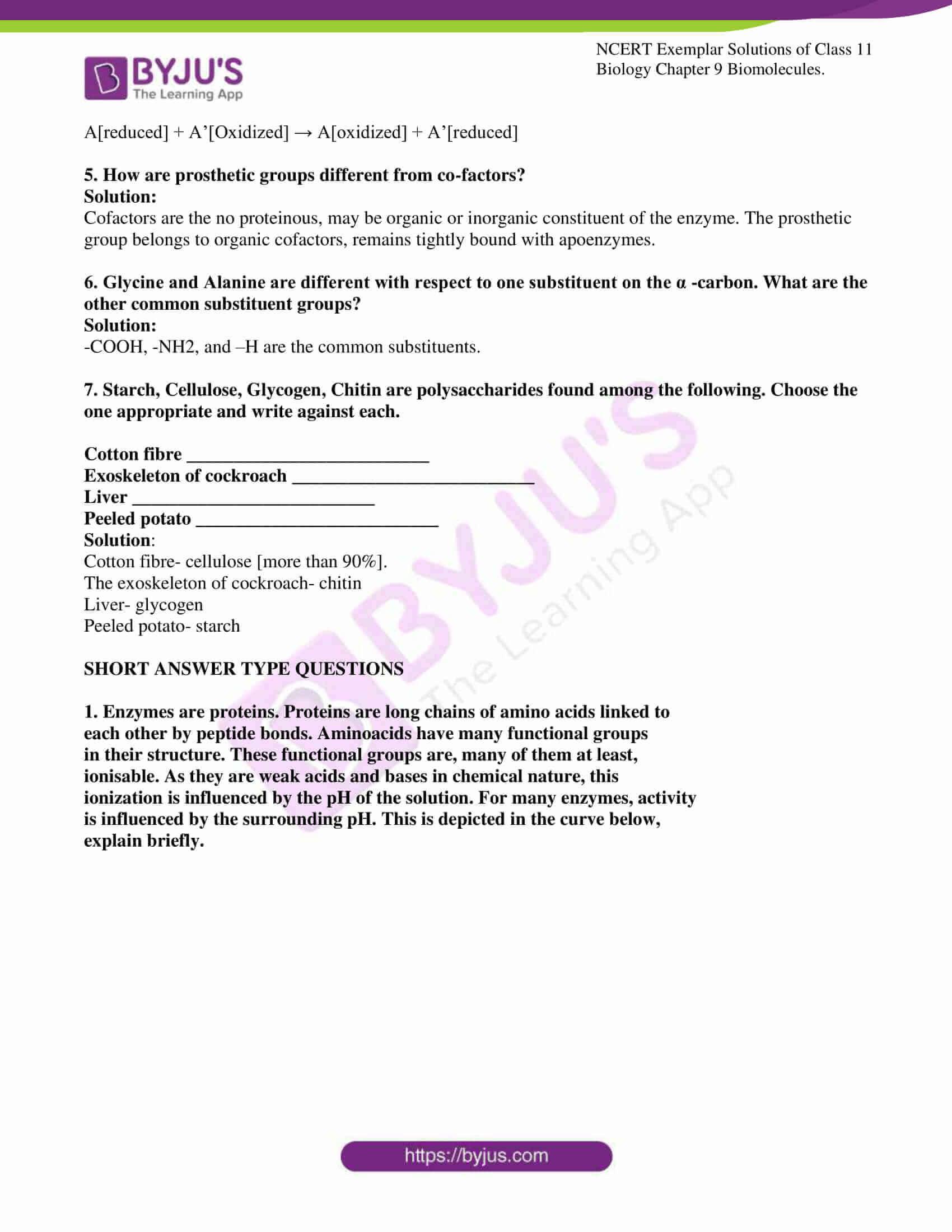 ncert exemplar solutions for class 11 bio chapter 9 5