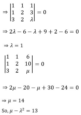 System of Linear Equations JEE Past Year Problems