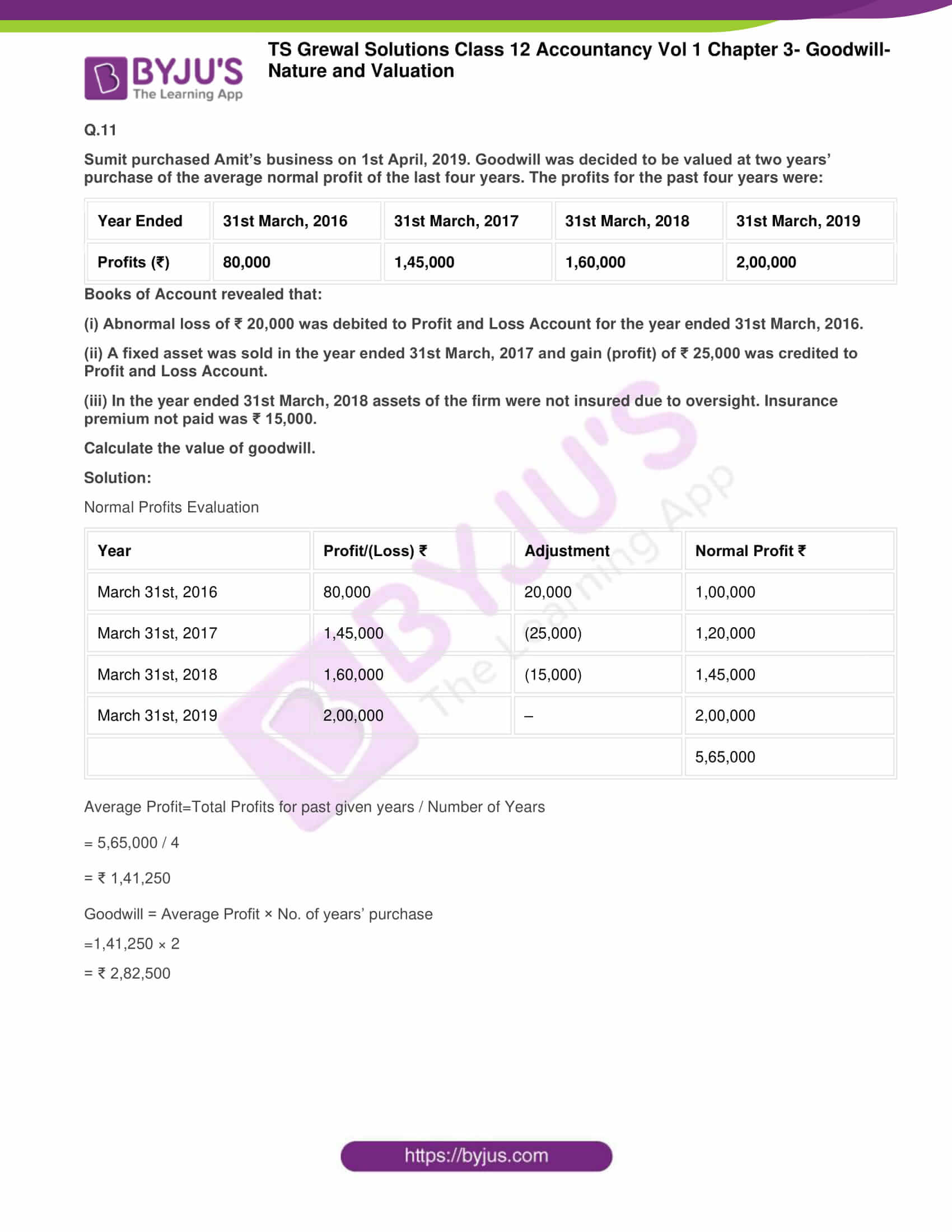 ts grewal solutions for class 12 accountancy vol 1 chapter 309