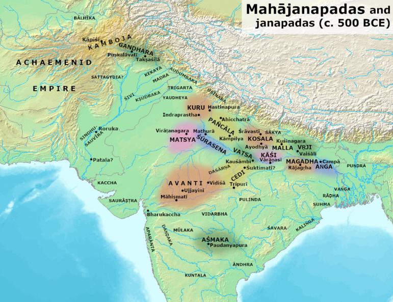 16 Mahajanapadas - 16 Mahajanapadas Map