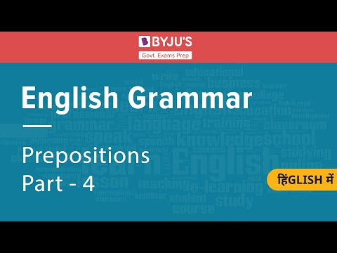 English Grammar - Prepositions  (2)