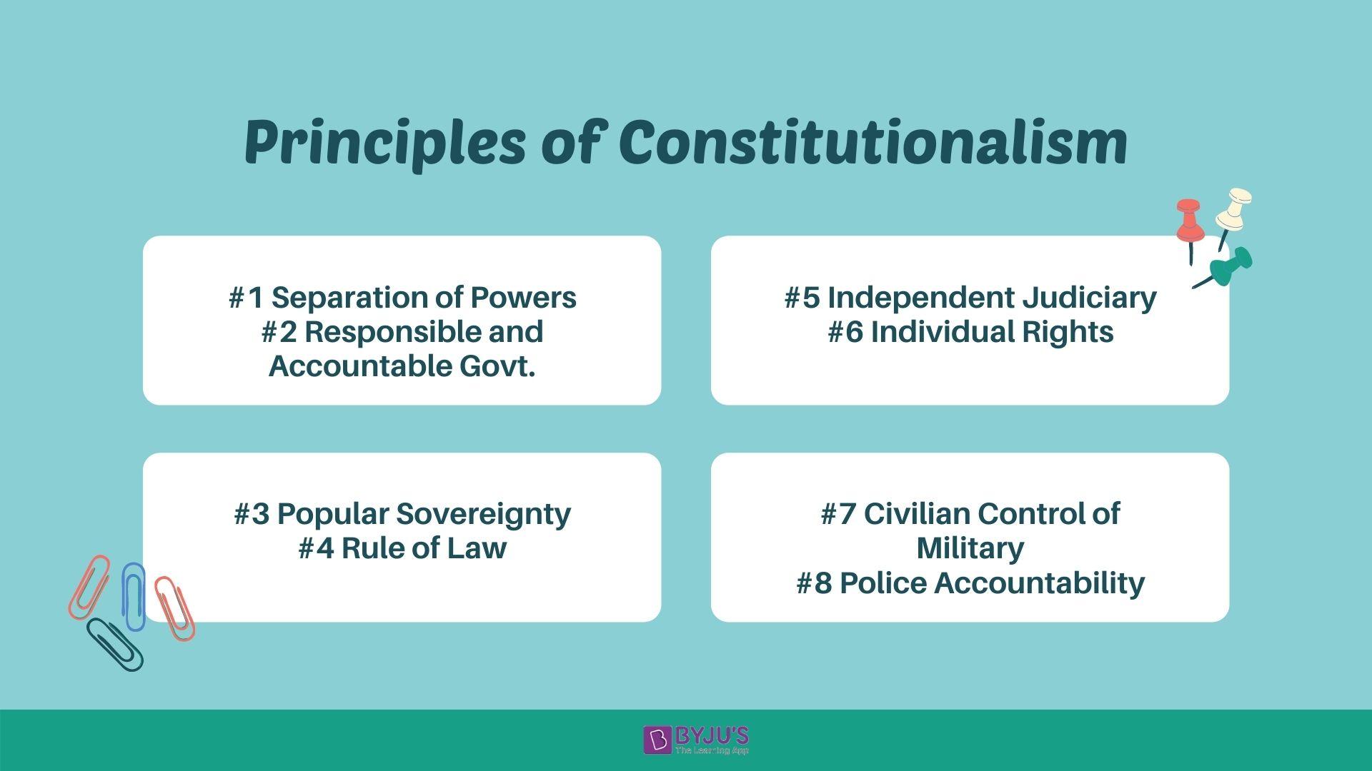Principles of Constitutionalism