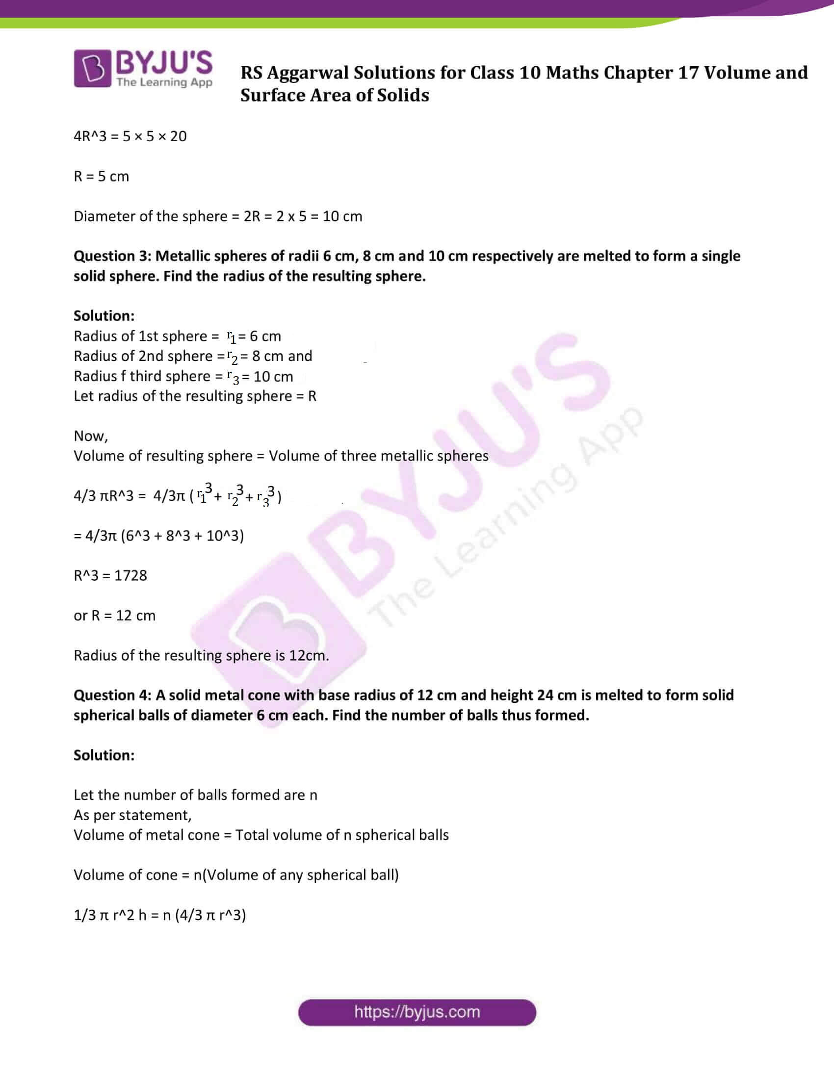 rs aggarwal sol class 10 maths chapter 17b