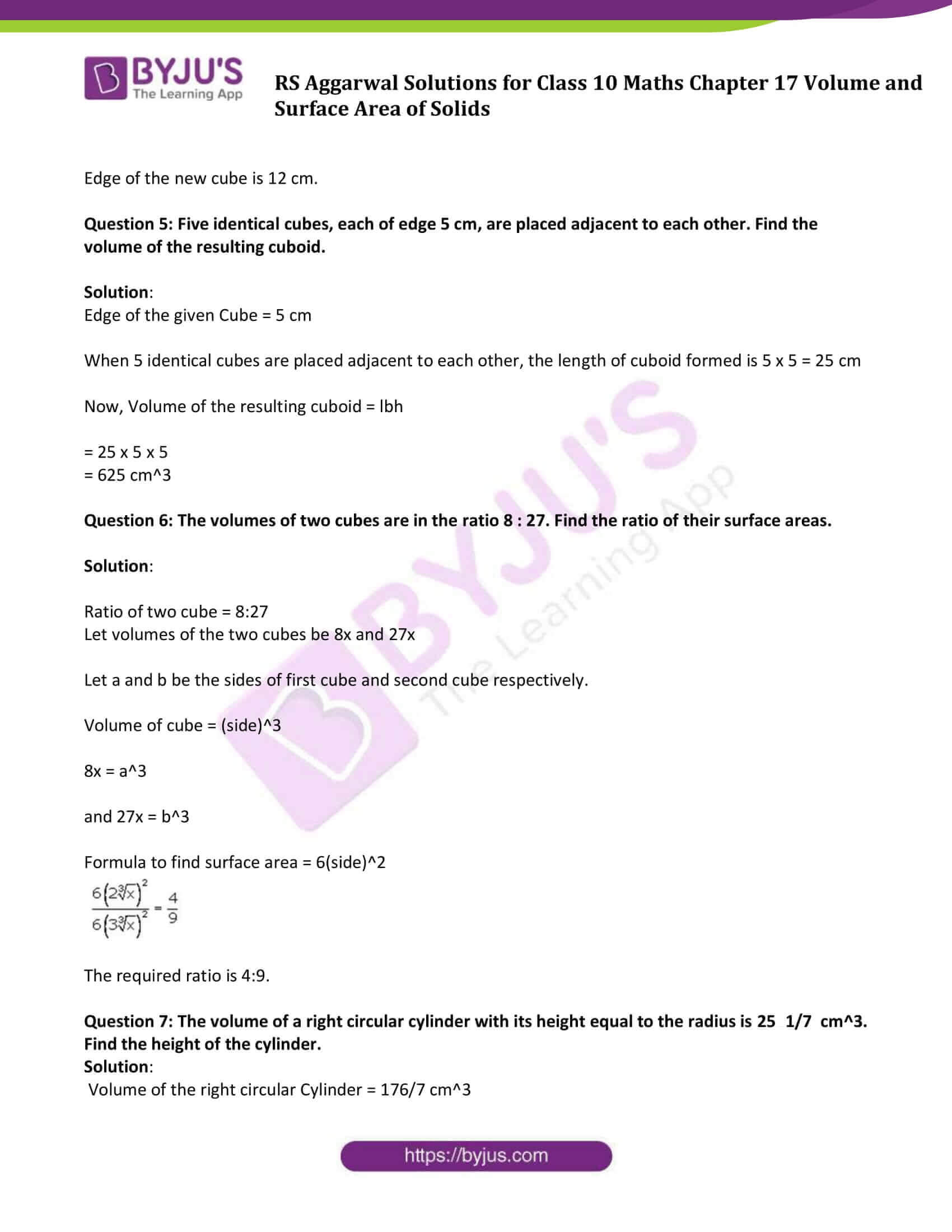 rs aggarwal sol class 10 maths chapter 17d