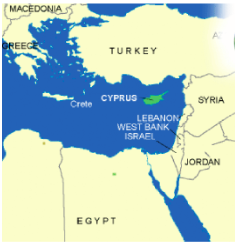 Greece - Cyprus - Turkey Map