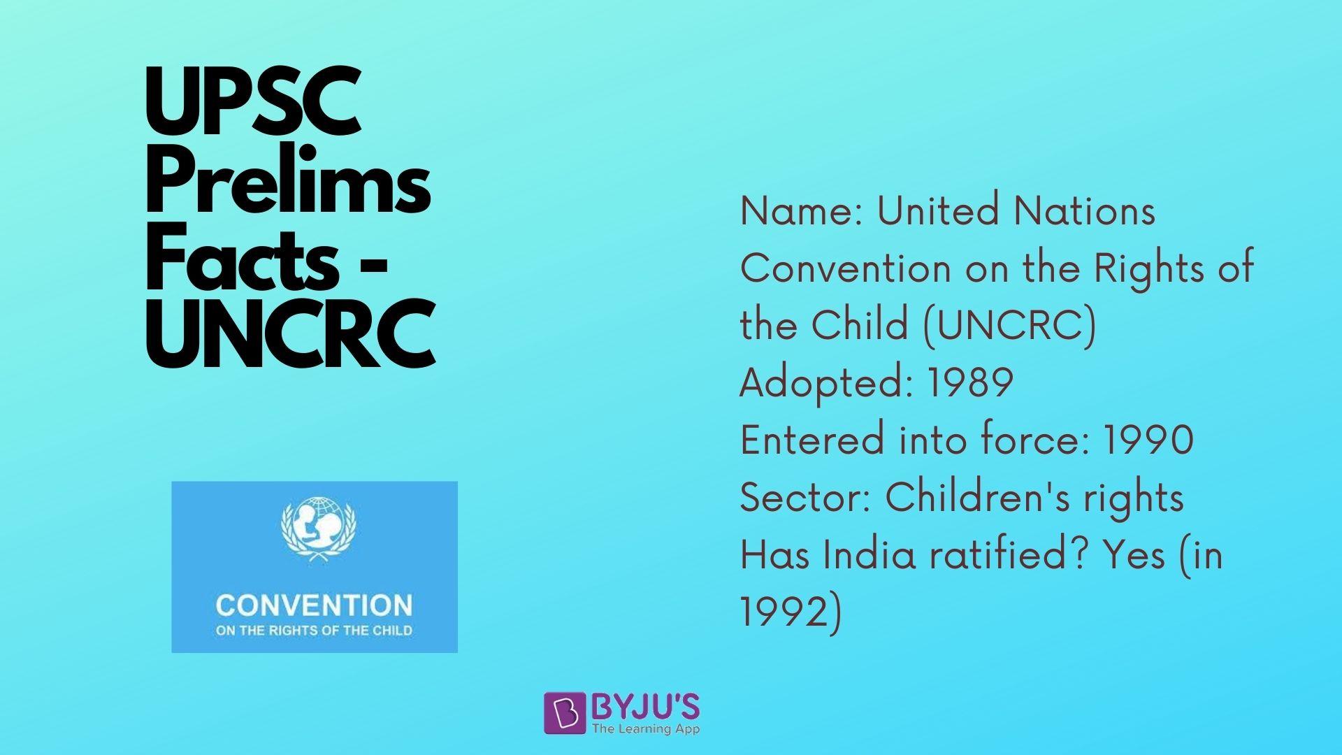 UPSC Prelims Facts - UNCRC