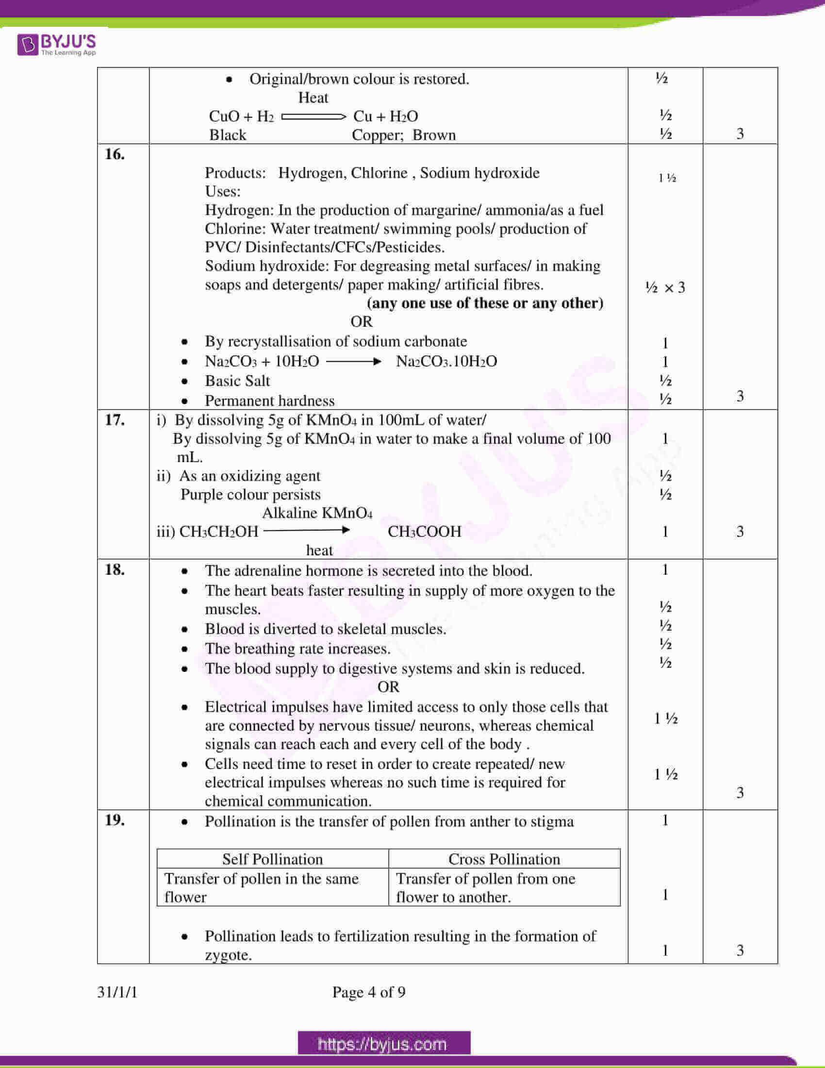 cbse class 10 science question paper set 3 solution 2020 2