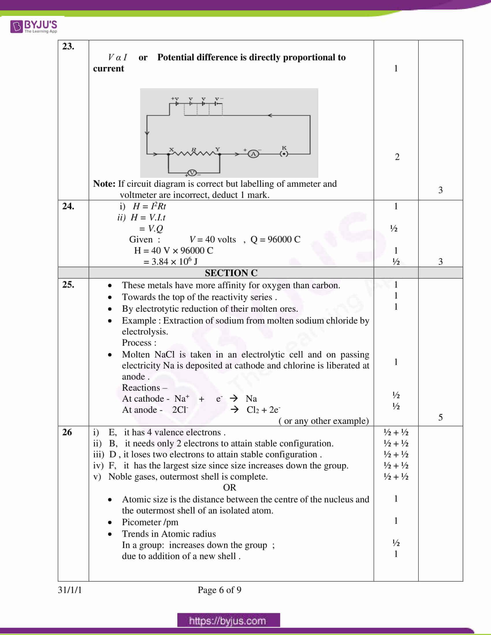 cbse class 10 science question paper set 3 solution 2020 4
