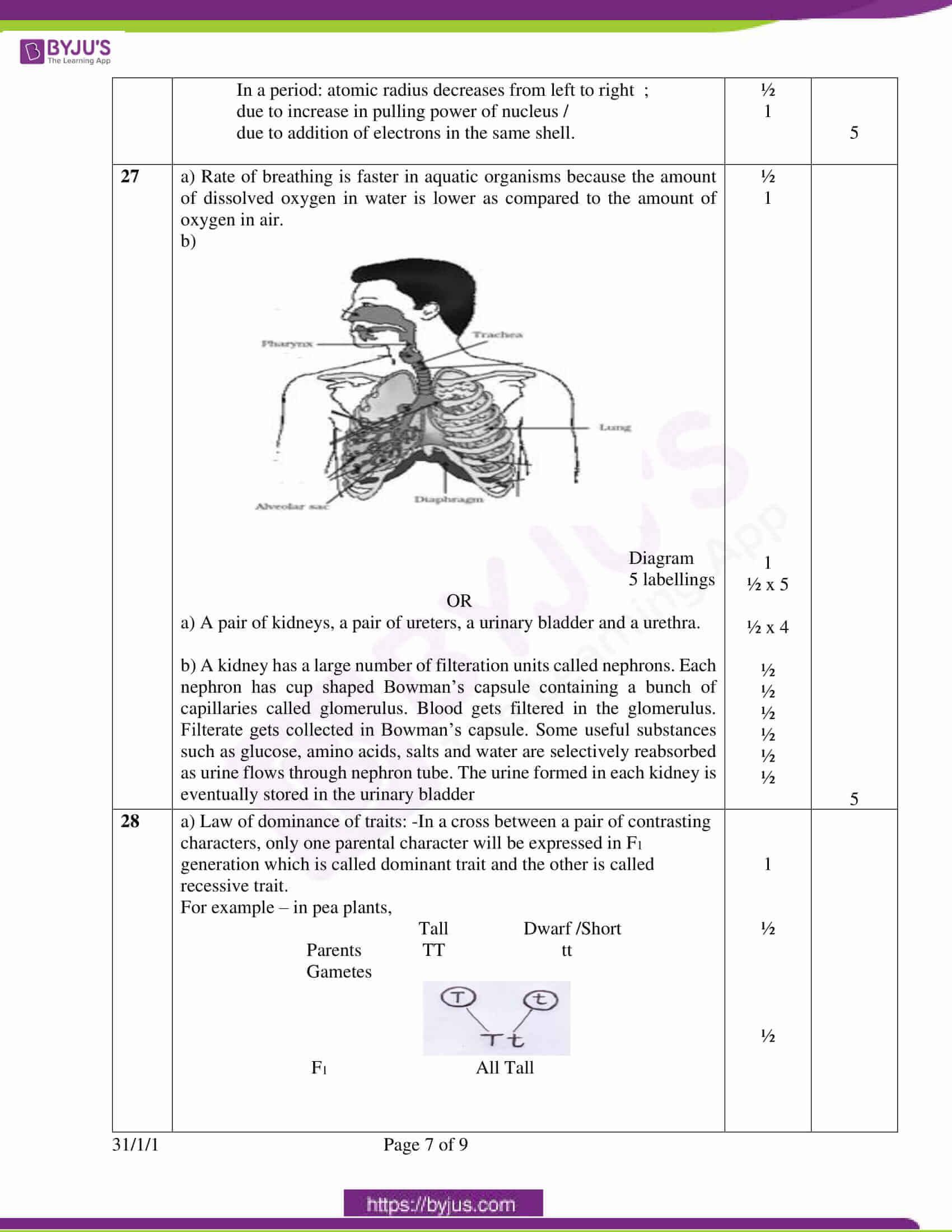 cbse class 10 science question paper set 3 solution 2020 5