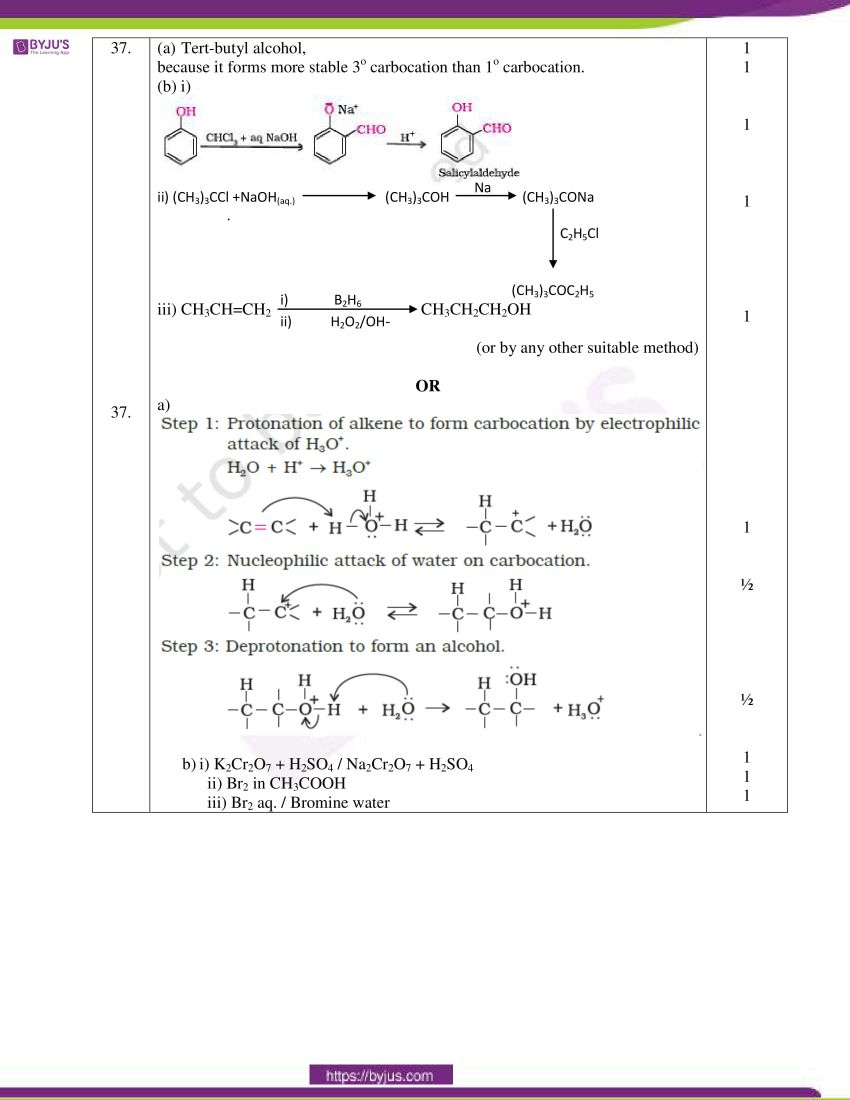 cbse class 12 chemistry 2020 question paper answer set 56 1 1 06