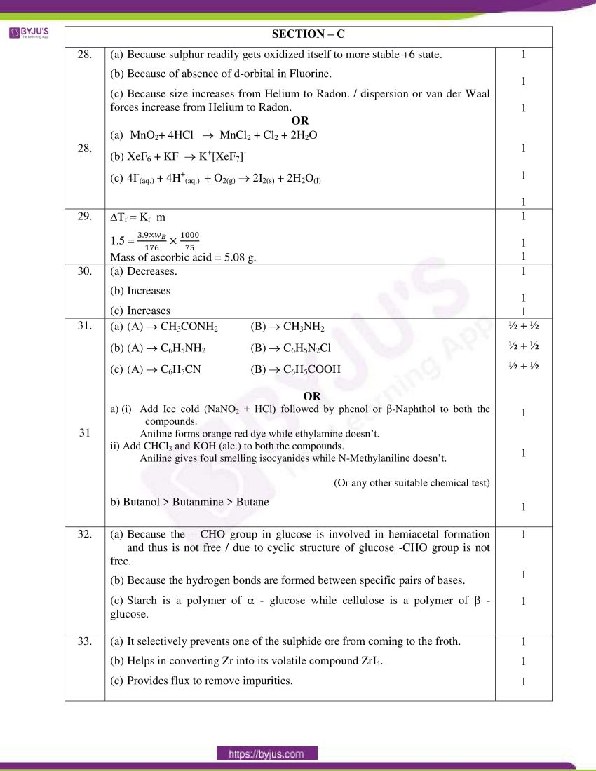 cbse class 12 chemistry 2020 question paper answer set 56 1 1 14