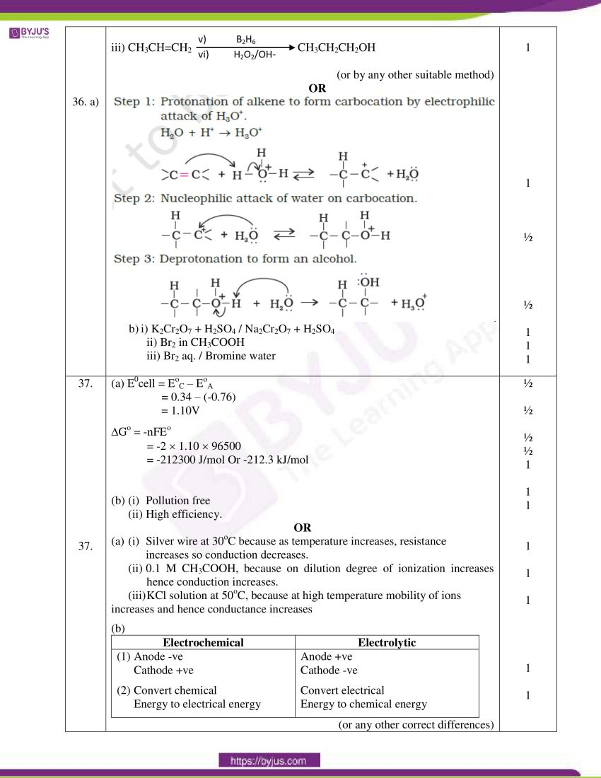 cbse class 12 chemistry 2020 question paper answer set 56 1 1 16