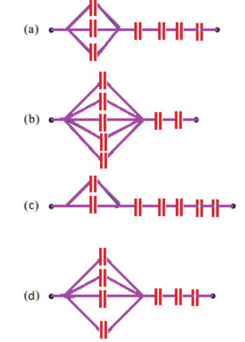 JEE Past Year Solved Question on Connection of 7 Capacitors