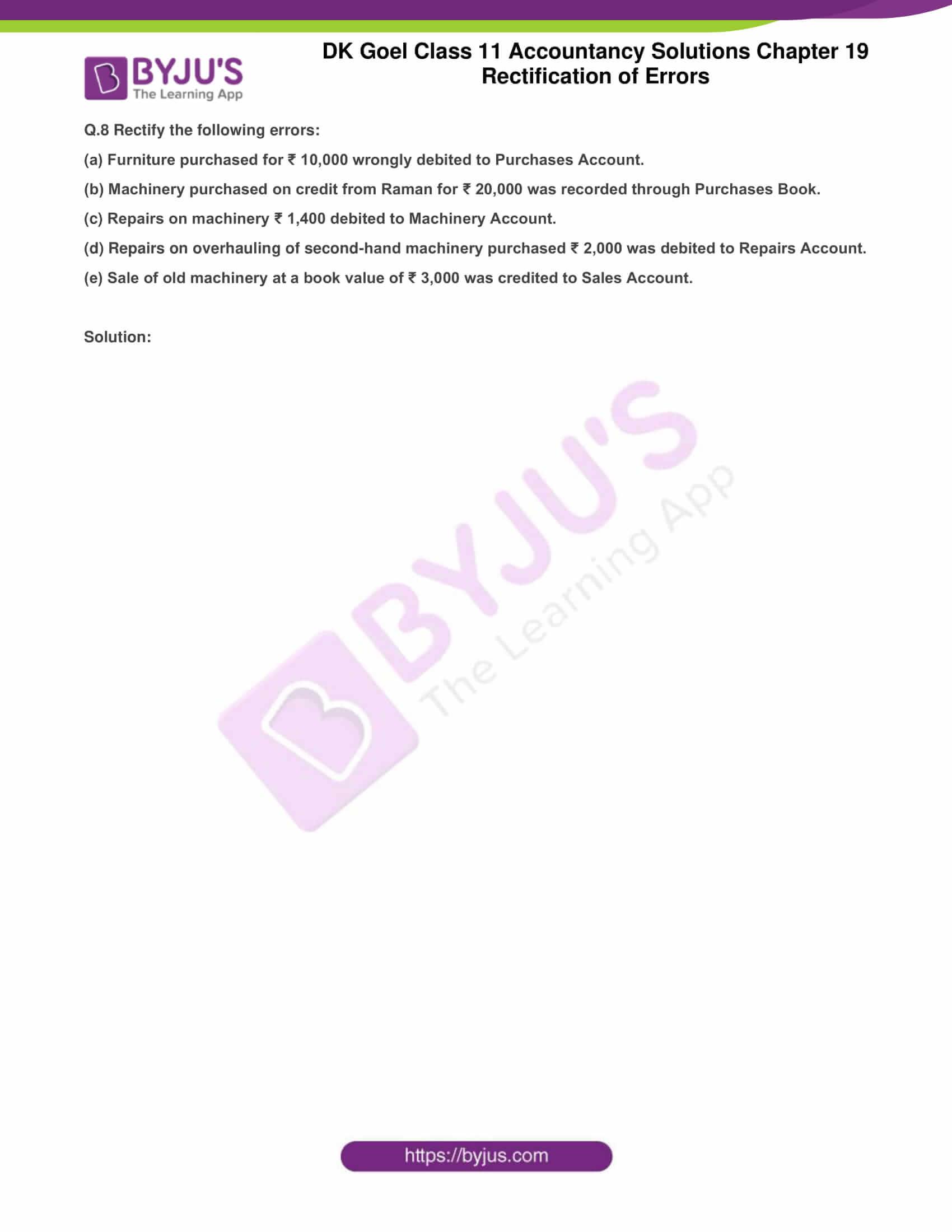 dk goel solutions class 11 accountancy chapter 19 rectification 12