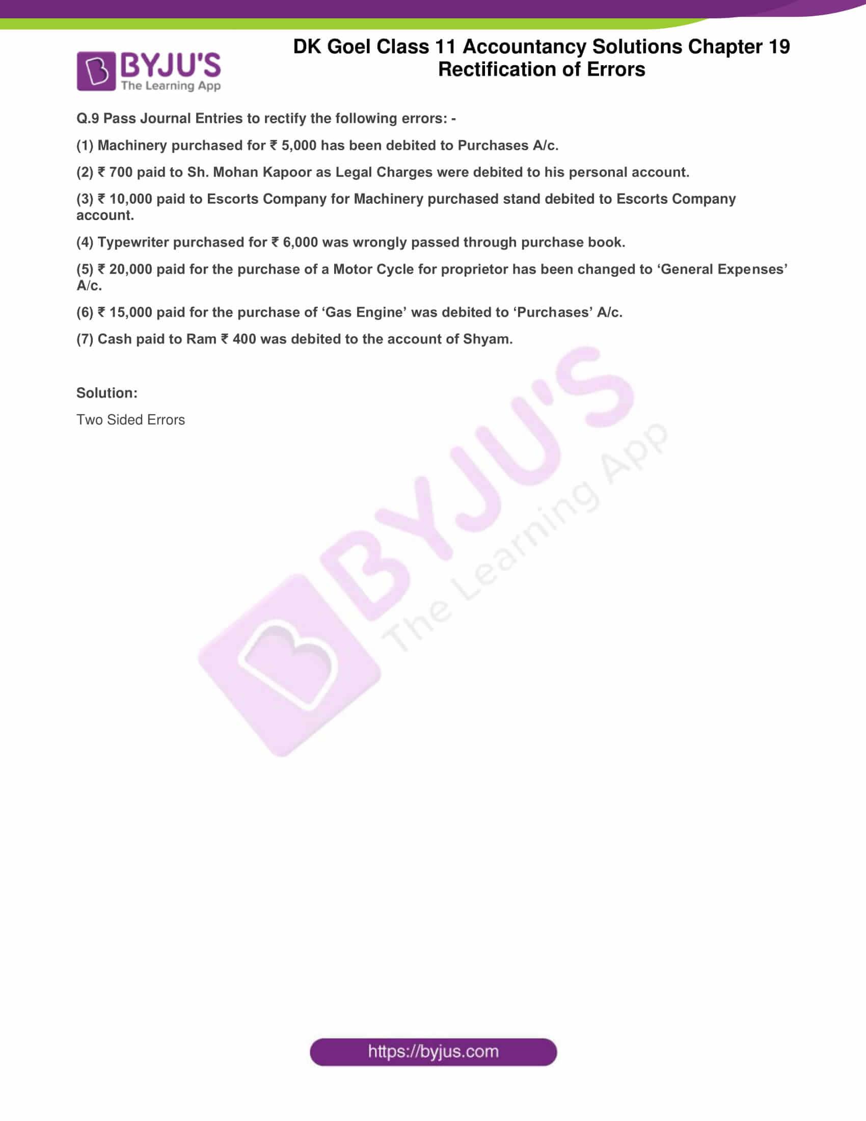 dk goel solutions class 11 accountancy chapter 19 rectification 14