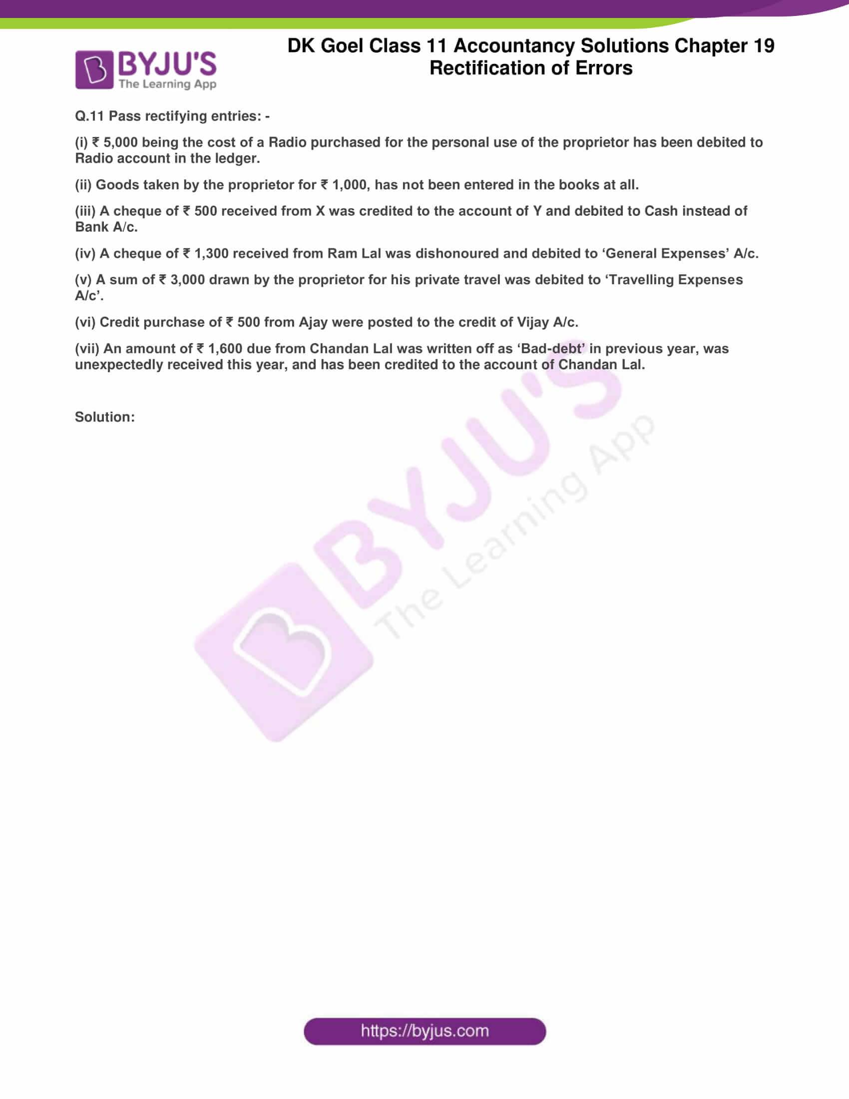 dk goel solutions class 11 accountancy chapter 19 rectification 18
