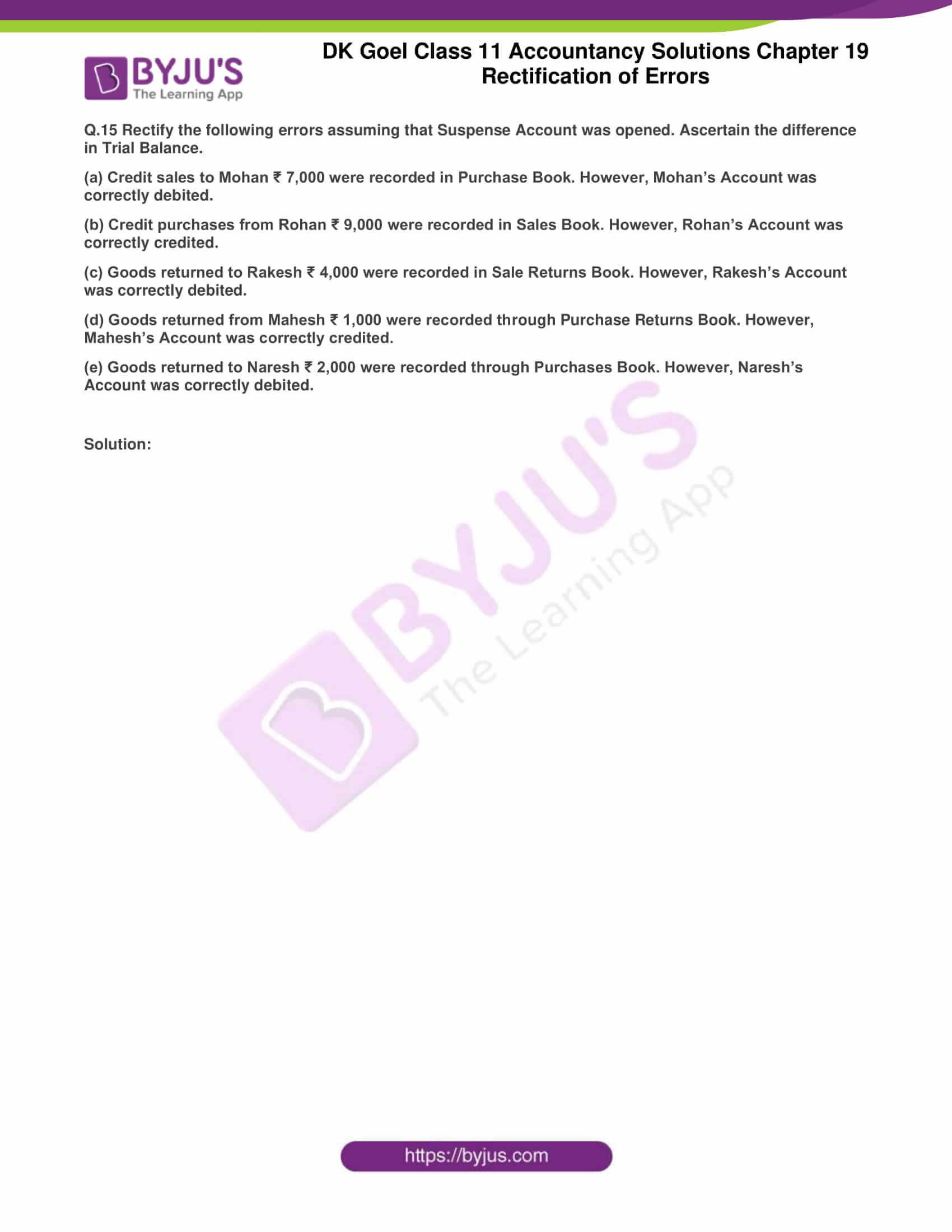 dk goel solutions class 11 accountancy chapter 19 rectification 28