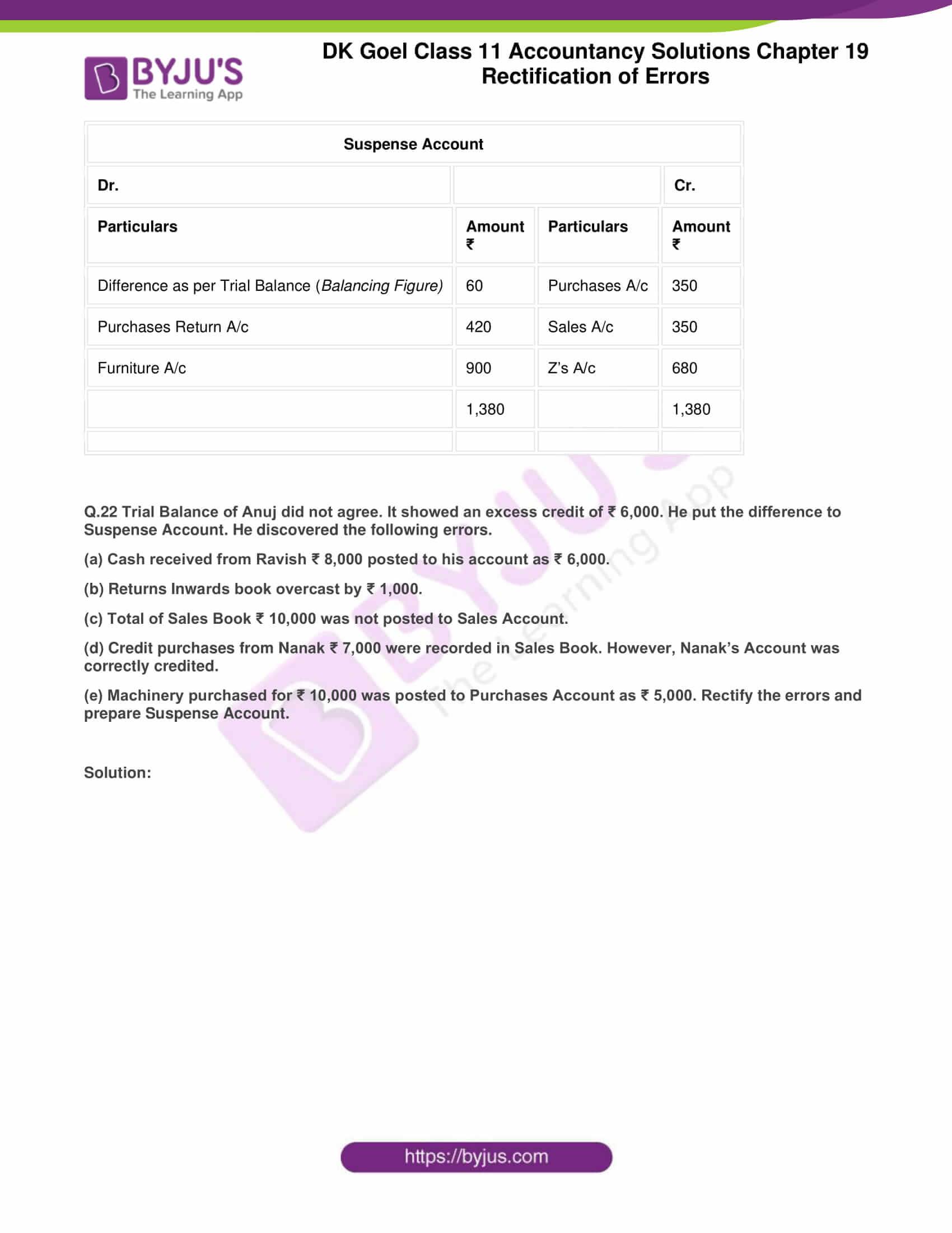 dk goel solutions class 11 accountancy chapter 19 rectification 42