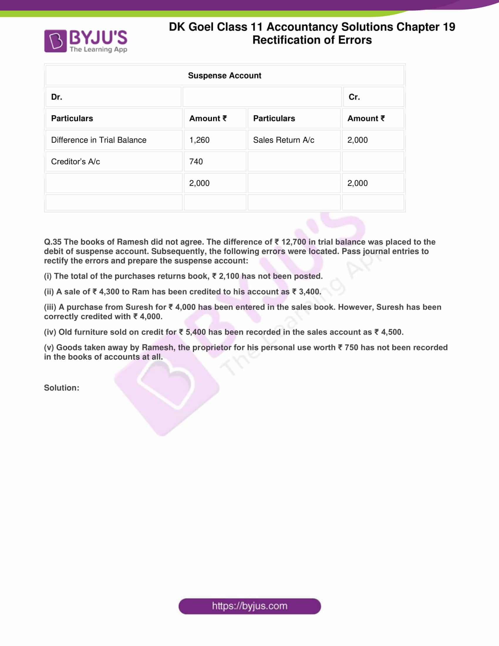 dk goel solutions class 11 accountancy chapter 19 rectification 67