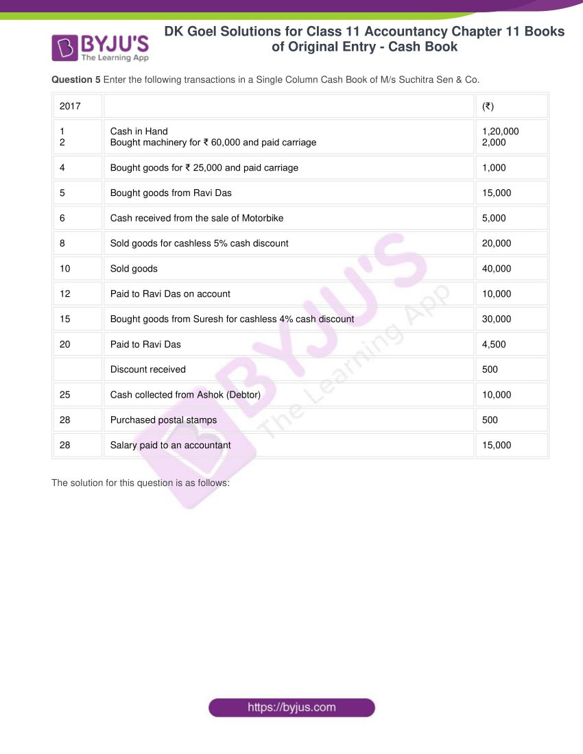 Dk goel solutions for class 11 accountancy chapter 11 08