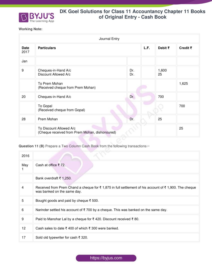 Dk goel solutions for class 11 accountancy chapter 11 24