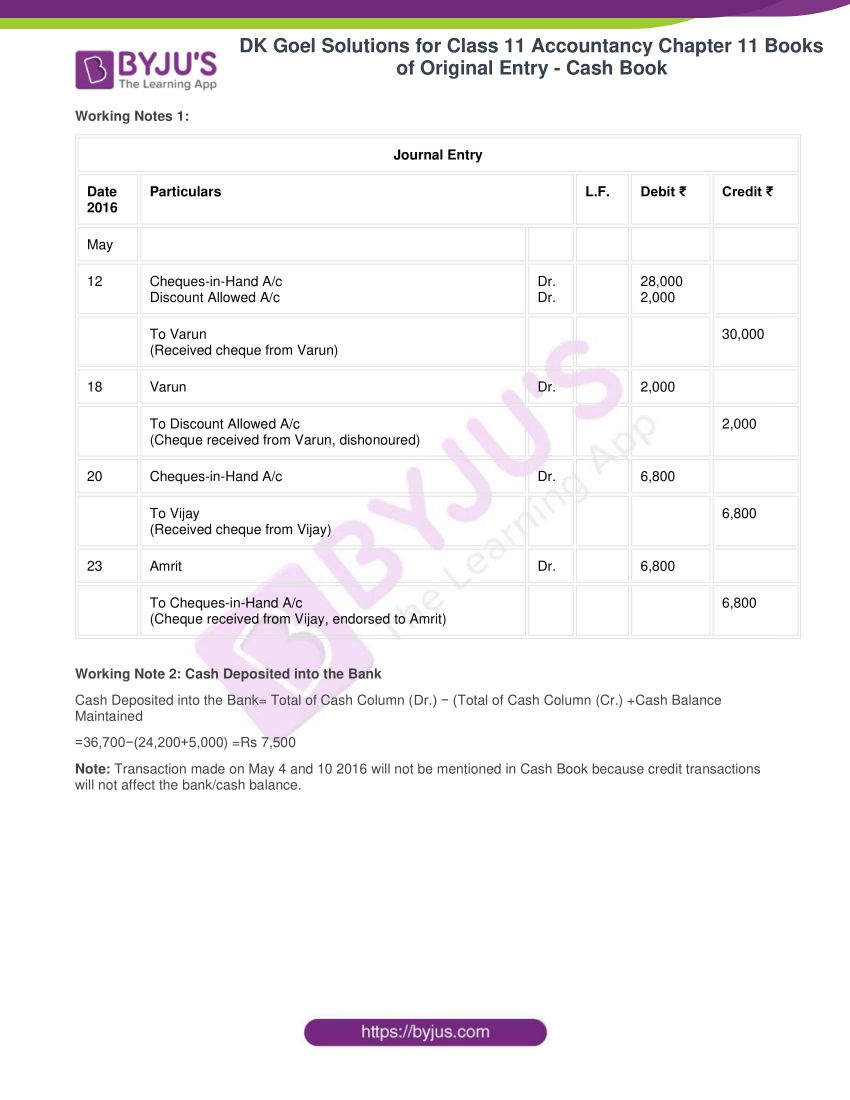 Dk goel solutions for class 11 accountancy chapter 11 37
