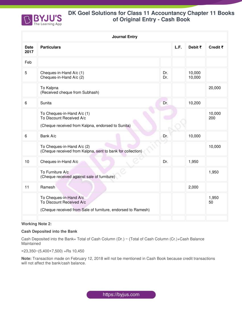 Dk goel solutions for class 11 accountancy chapter 11 40