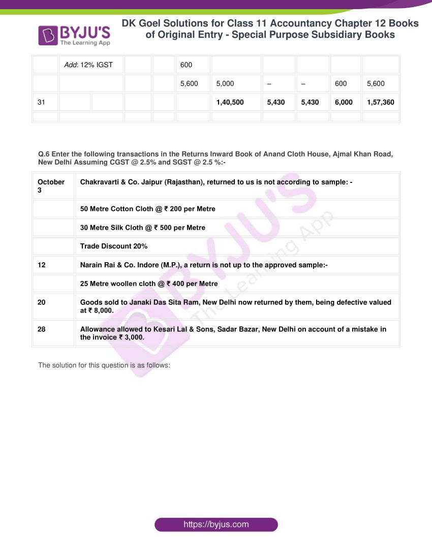 dk goel solutions for class 11 accountancy chapter 12 subsidiary books 14