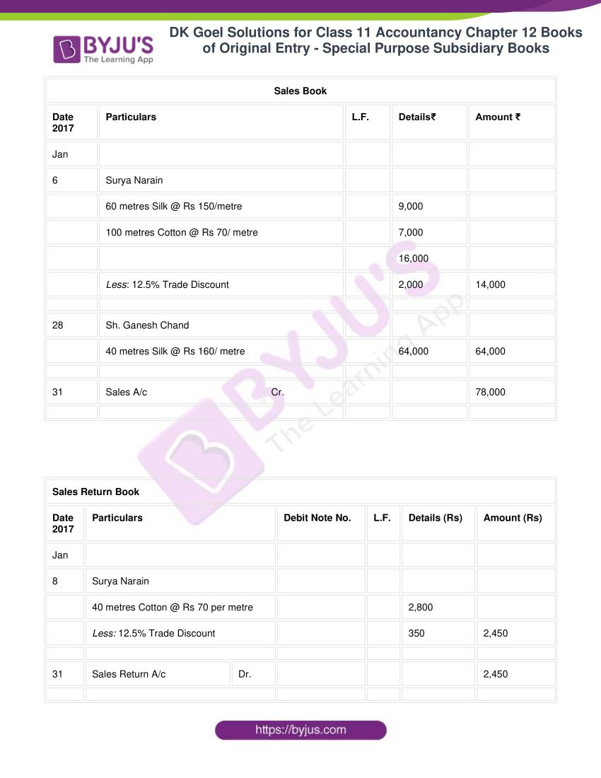 dk goel solutions for class 11 accountancy chapter 12 subsidiary books 26