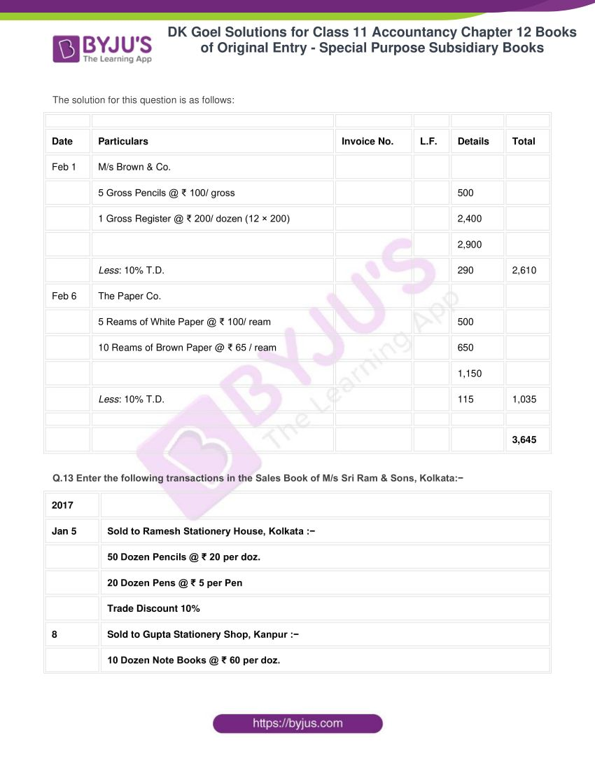 dk goel solutions for class 11 accountancy chapter 12 subsidiary books 31