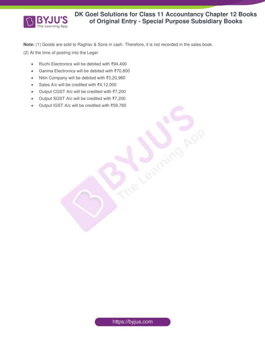 dk goel solutions for class 11 accountancy chapter 12 subsidiary books 46