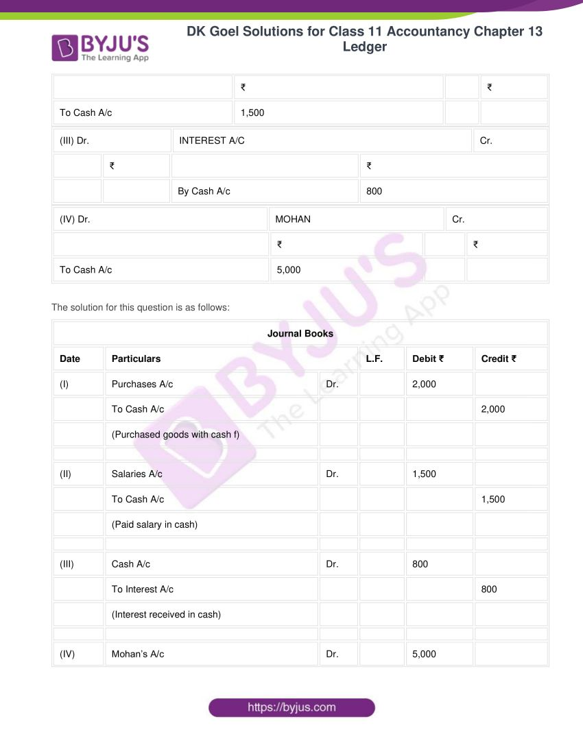 Dk goel solutions for class 11 accountancy chapter 13 ledger 23