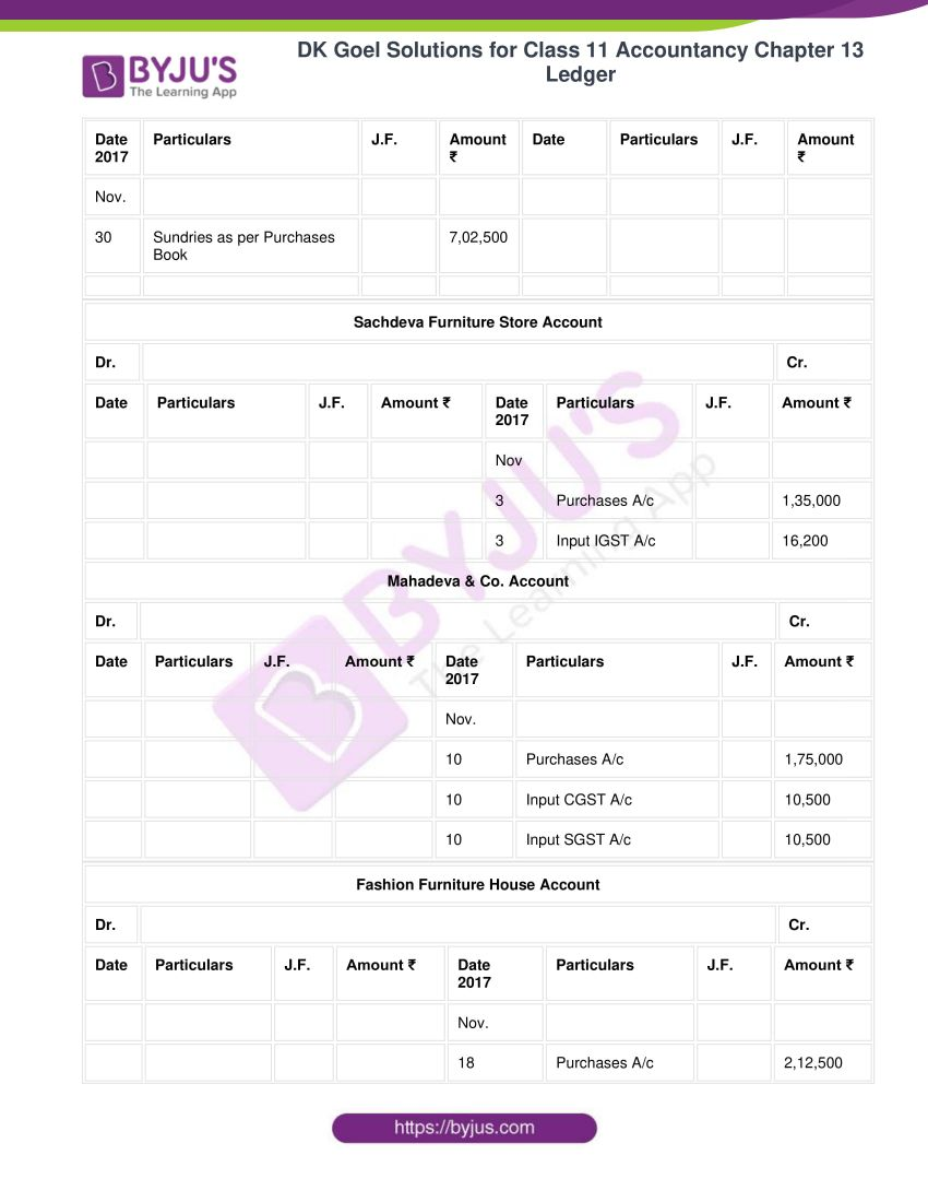 Dk goel solutions for class 11 accountancy chapter 13 ledger 34