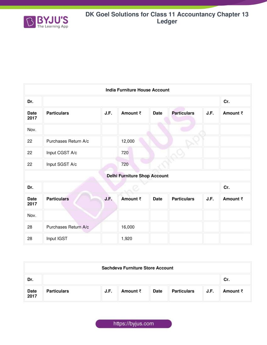 Dk goel solutions for class 11 accountancy chapter 13 ledger 41