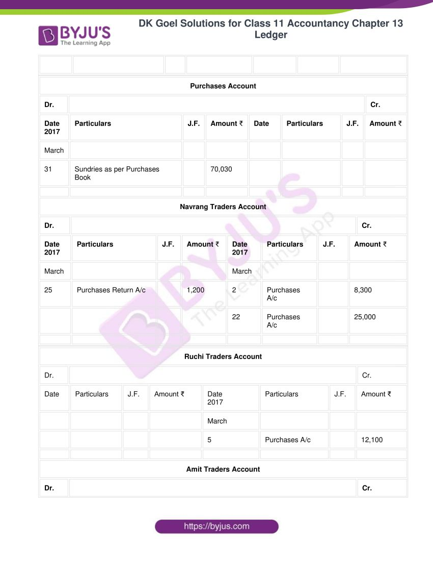 Dk goel solutions for class 11 accountancy chapter 13 ledger 48