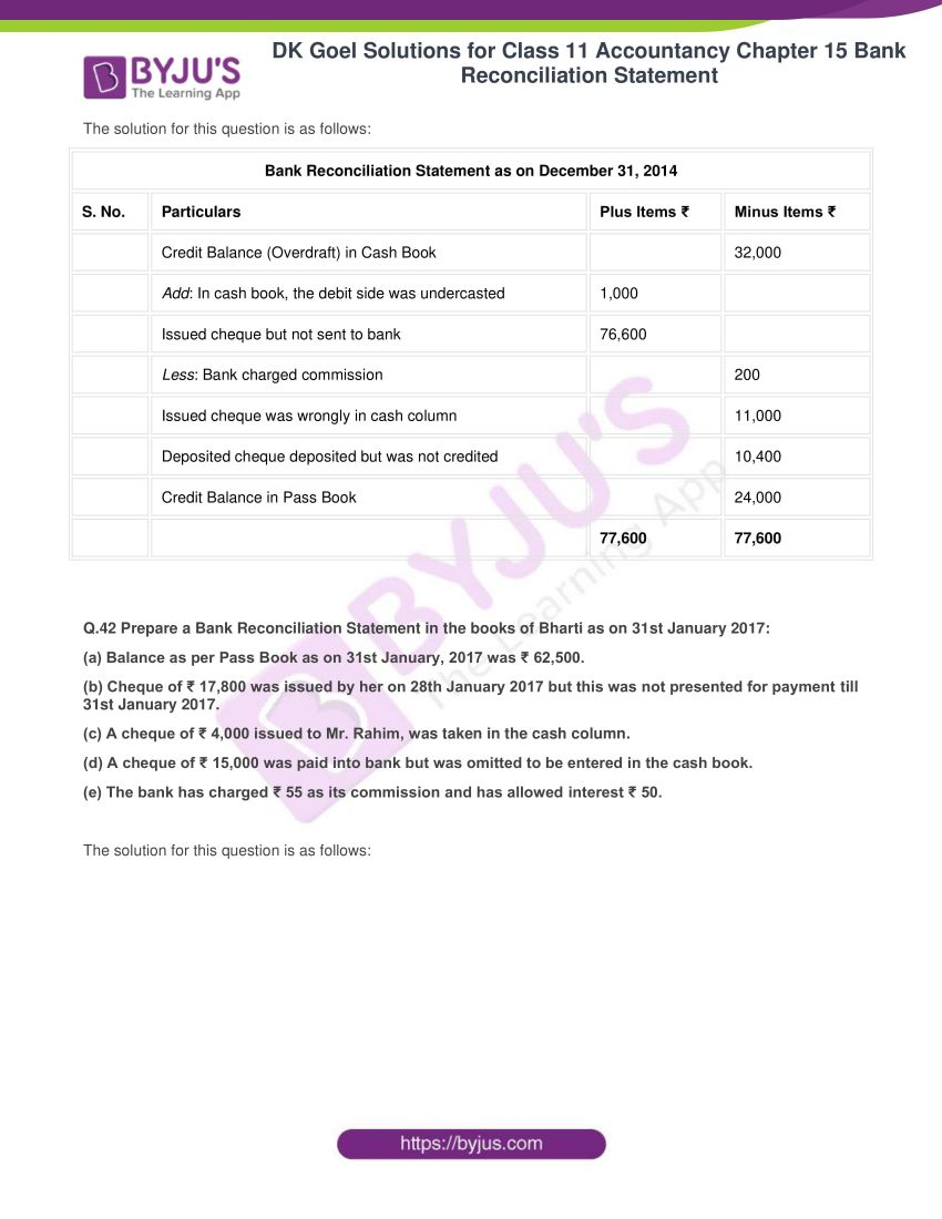dk goel solutions for class 11 accountancy chapter 15 43