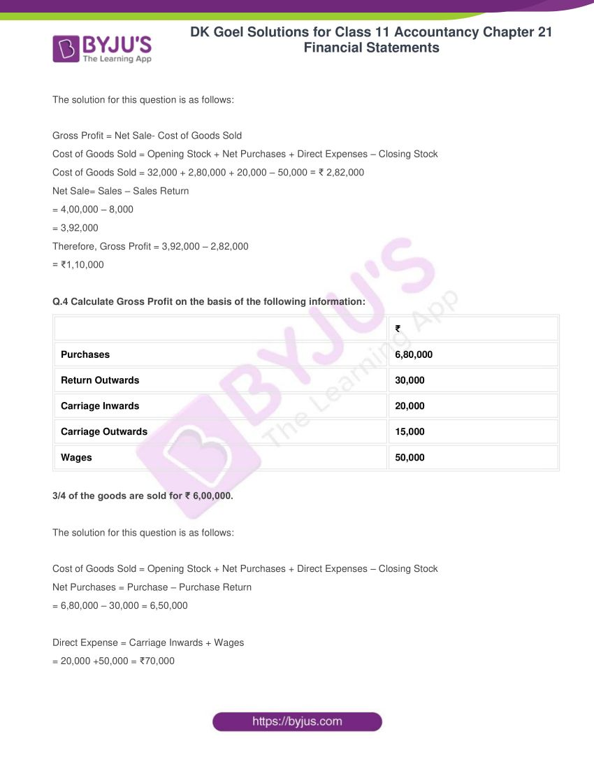 dk goel solutions for class 11 accountancy chapter 21 financial statements 05