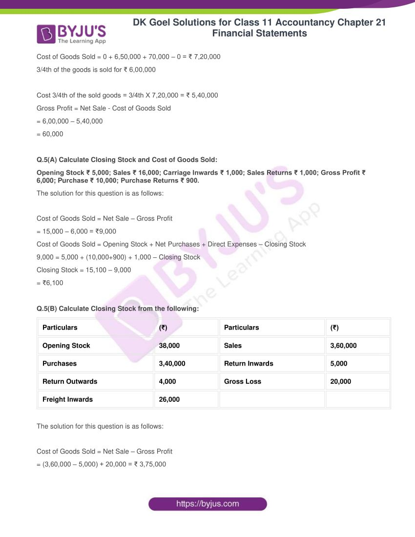 dk goel solutions for class 11 accountancy chapter 21 financial statements 06