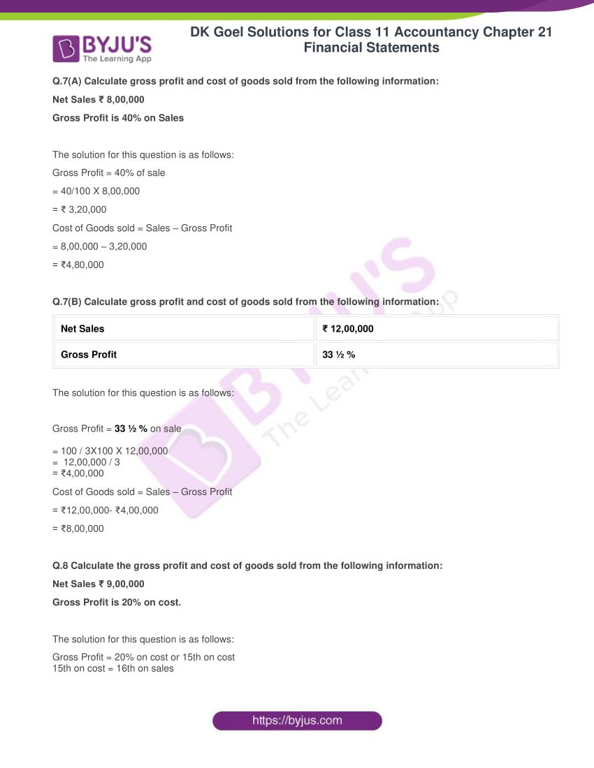 dk goel solutions for class 11 accountancy chapter 21 financial statements 08