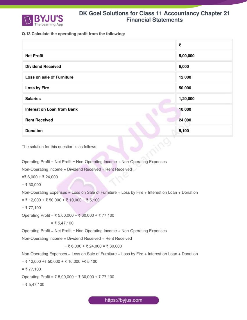 dk goel solutions for class 11 accountancy chapter 21 financial statements 14