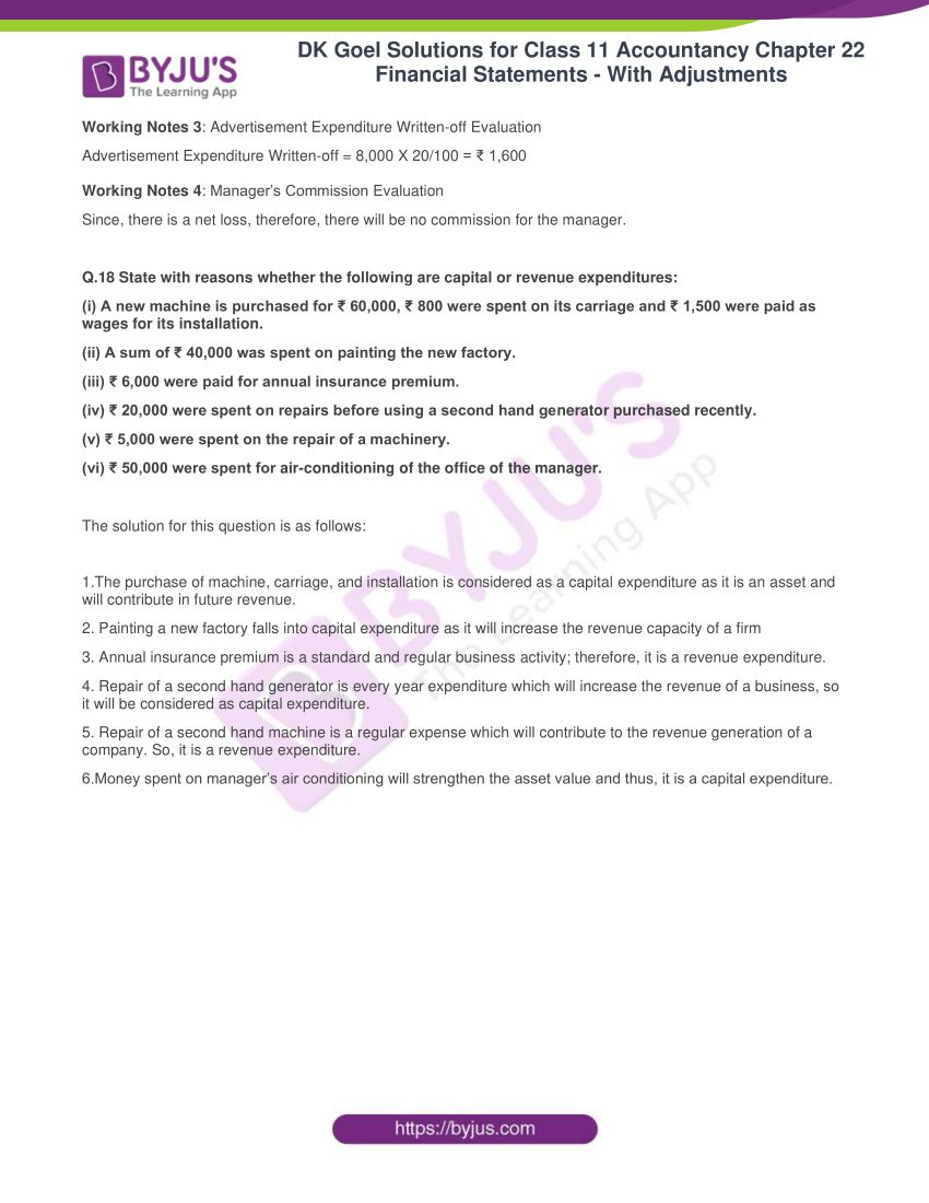 dk goel solutions for class 11 accountancy chapter 22 69