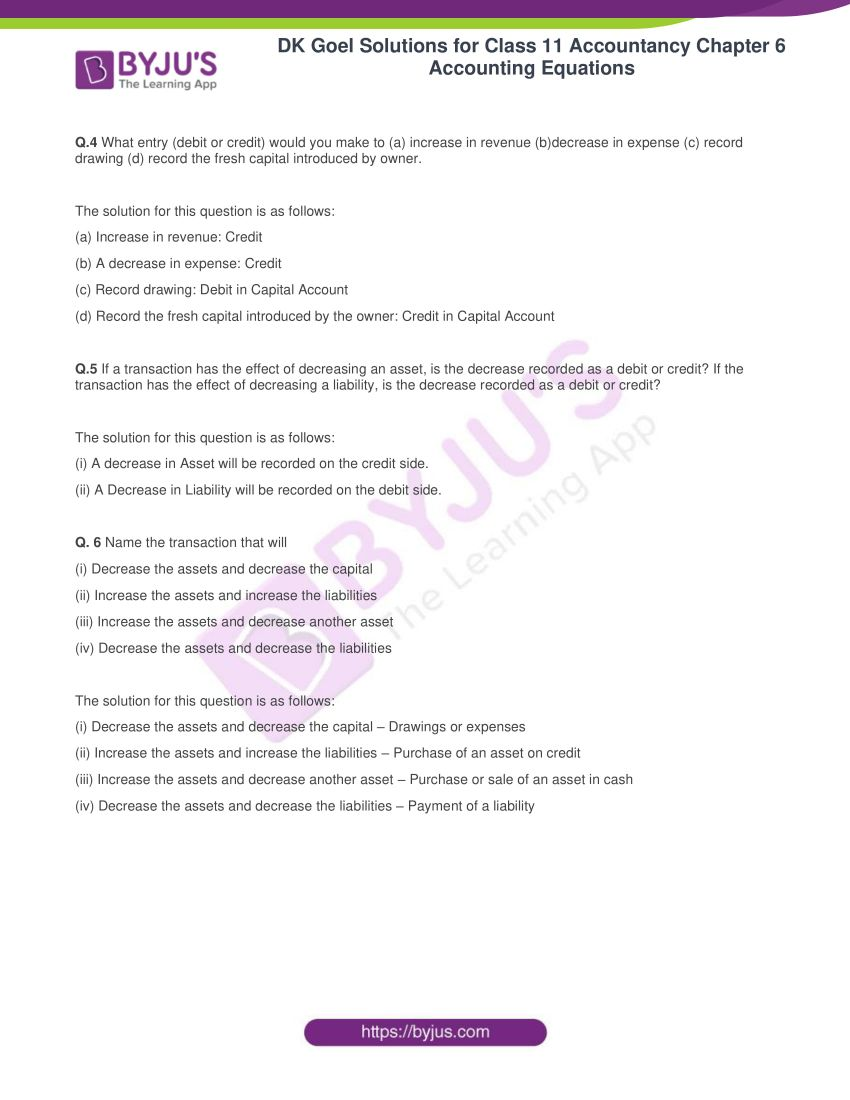dk goel solutions for class 11 accountancy chapter 6 equations 02