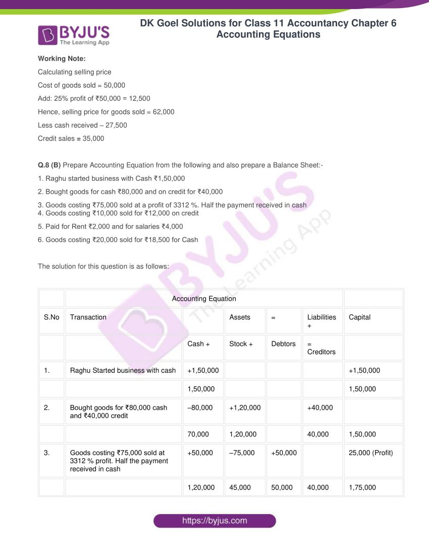 dk goel solutions for class 11 accountancy chapter 6 equations 18