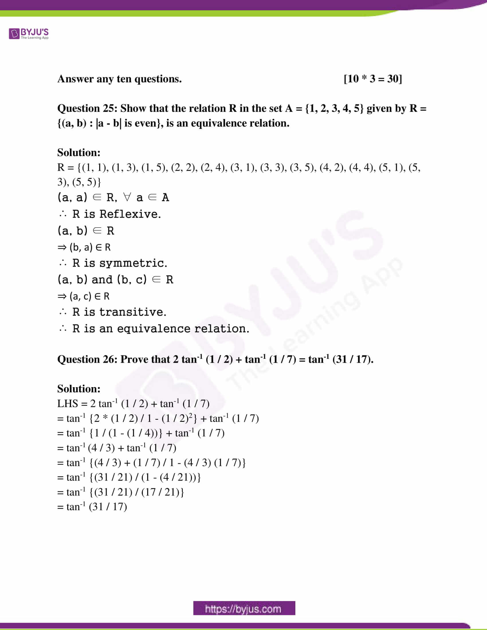 kseeb class 12 exam question paper solutions march 2018 09