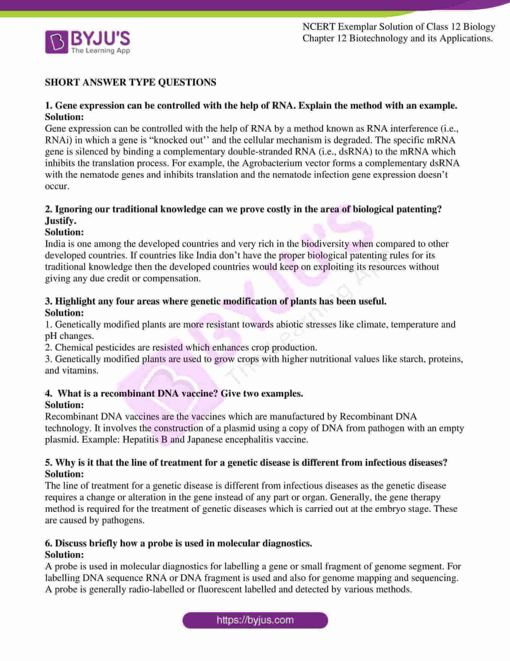 ncert exemplar solution of class 12 biology chapter 12. 06