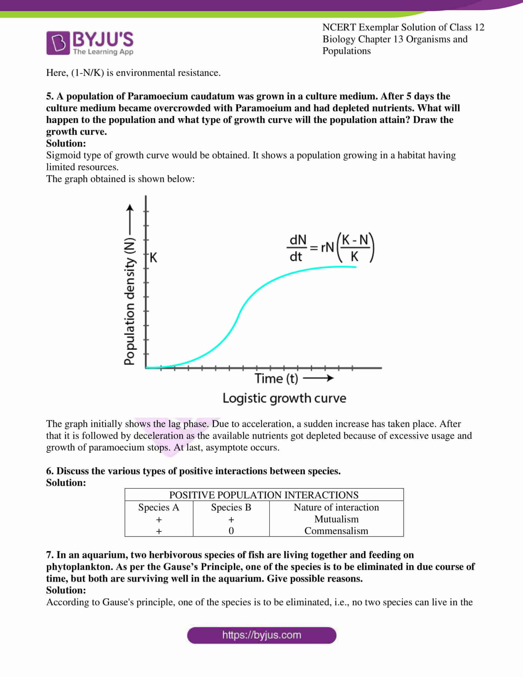 ncert exemplar solution of class 12 biology chapter 13 14