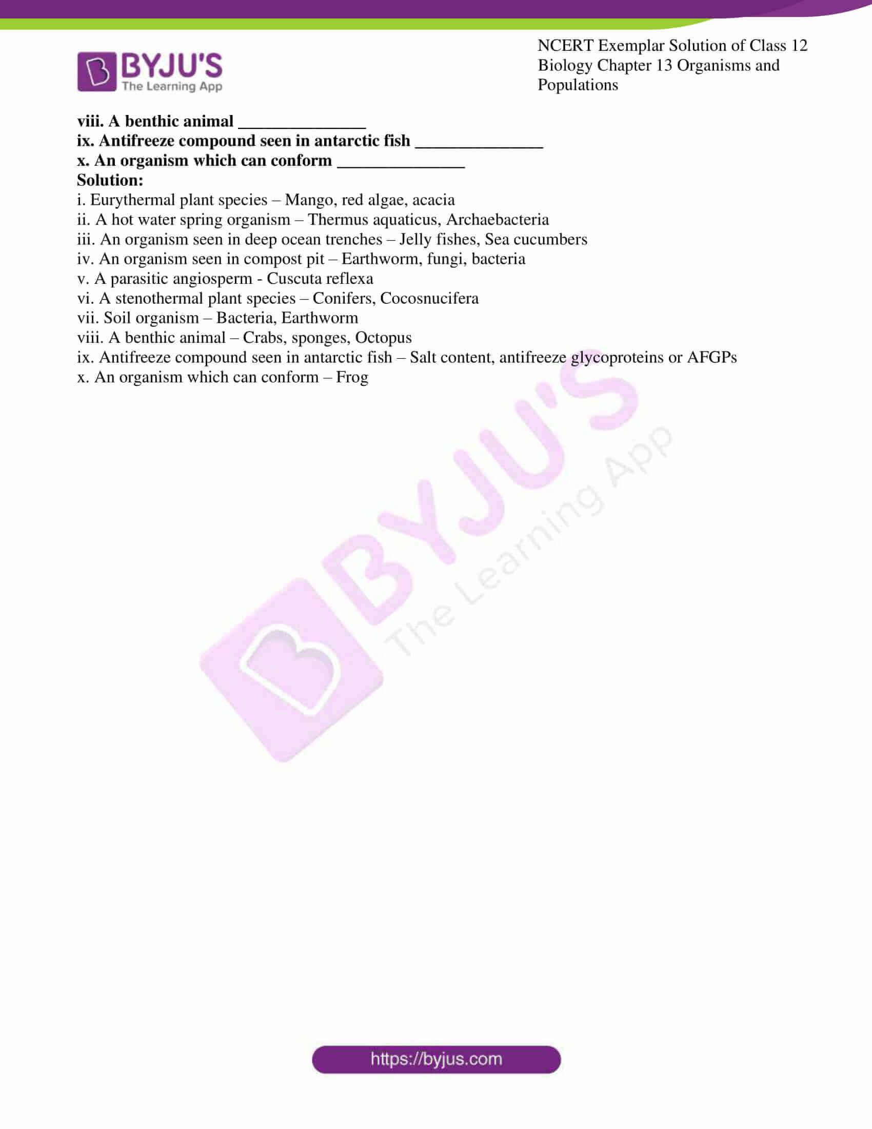 ncert exemplar solution of class 12 biology chapter 13 16