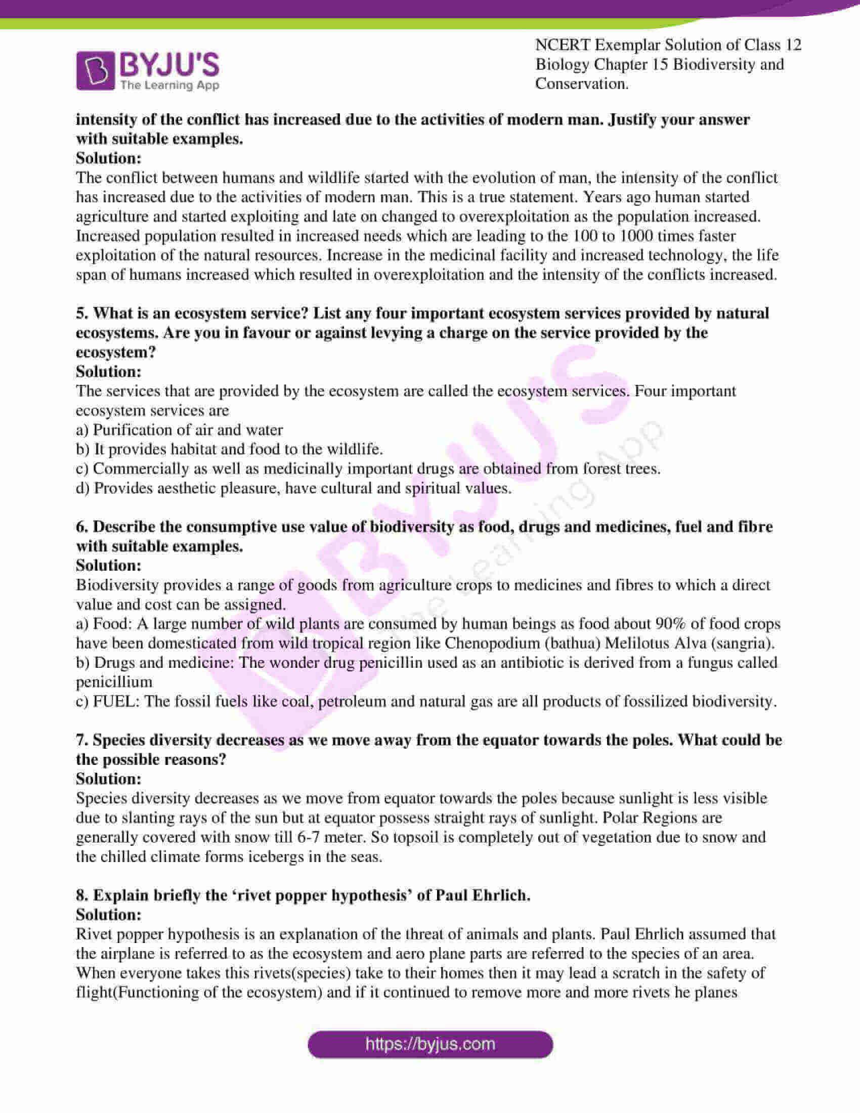 ncert exemplar solution of class 12 biology chapter 15 10